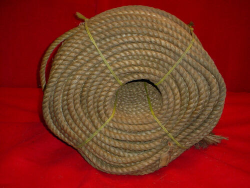 "~ Rope By The Foot~ 12/"" of .75/"" 3//4/"" Nautical Mildew Resistant Manila Hemp"
