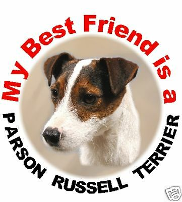2 Parson Russell Terrier Car Stickers By Starprint