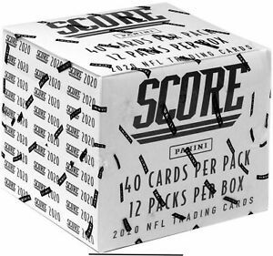 2020-Score-Football-Fat-Pack-Box-Factory-Sealed-12-PACKS-CELLO
