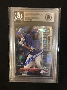 VLADIMIR-GUERRERO-JR-2018-BOWMAN-CHROME-ATOMIC-REFRACTOR-On-Card-Auto-81-150
