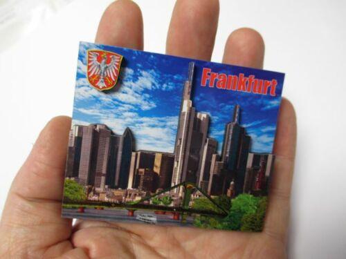 souvenir Germany nouveau Frankfurt Main skyline bois souvenir wood magnétique