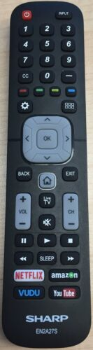 Genuine Sharp EN2A27S Smart TV Remote Control LC-65N9000U LC-75N620U LC-75N8000U