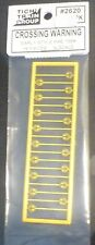 Tichy Train Group #2620 Crossing Warning signs (18) Early Style Pre 54 (N Scale)