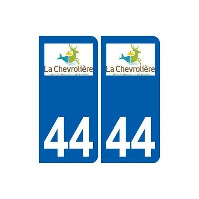 44 La Chevrolièreb Logo Ville Autocollant Plaque Stickers - Angles : Arrondis