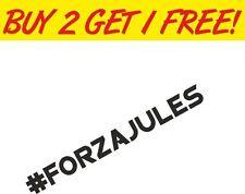 # FORZA JULES Bianchi rip memorial vinyl stickers car decals bumper window vinyl
