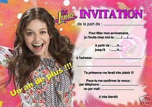 Detalles De 5 O 12 Invitaciones De Cumpleaños Soy Luna Ref 363