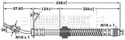 Destro sinistro inferiore Borg BBH7131 TUBO del freno anteriore
