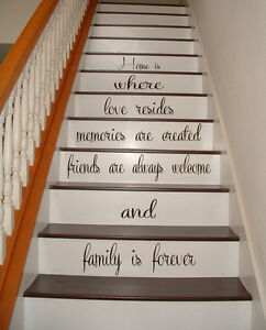 Image Is Loading Stairs Vinyl Decal Quote Family Stairway Decor Home