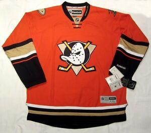 ANAHEIM-DUCKS-size-XXL-Reebok-Premier-Hockey-Jersey-Orange-Alternate-3rd-Style