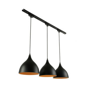 Details about Industrial Track Light Pendant Fixture Vintage 3 Pendant  Lighting Kitchen Island