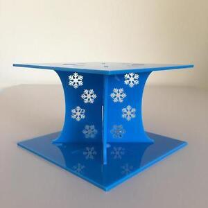 Frozen-Design-Quadrato-Matrimonio-Torta-Della-Festa-Separatori-Blu-Brillante