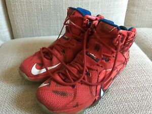 3dba02885ce3 Image is loading Nike-Lebron-XII-12-034-Independence-Day-034-