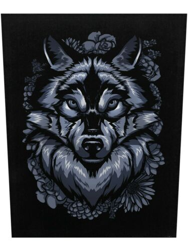 Unorthodox Collective Backpatch Lone Wolf Black 29.5x36cm