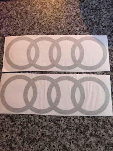 Audi Logo Car Decals. Pair Of. Bumper Stickers. Audi Logo. Sport. Stickers. x2.