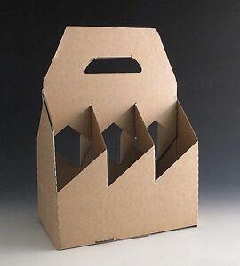 Details About 20 Cardboard Bottle Holder Carrier Gift Boxes For 6 Bottles Wine Beer Divider