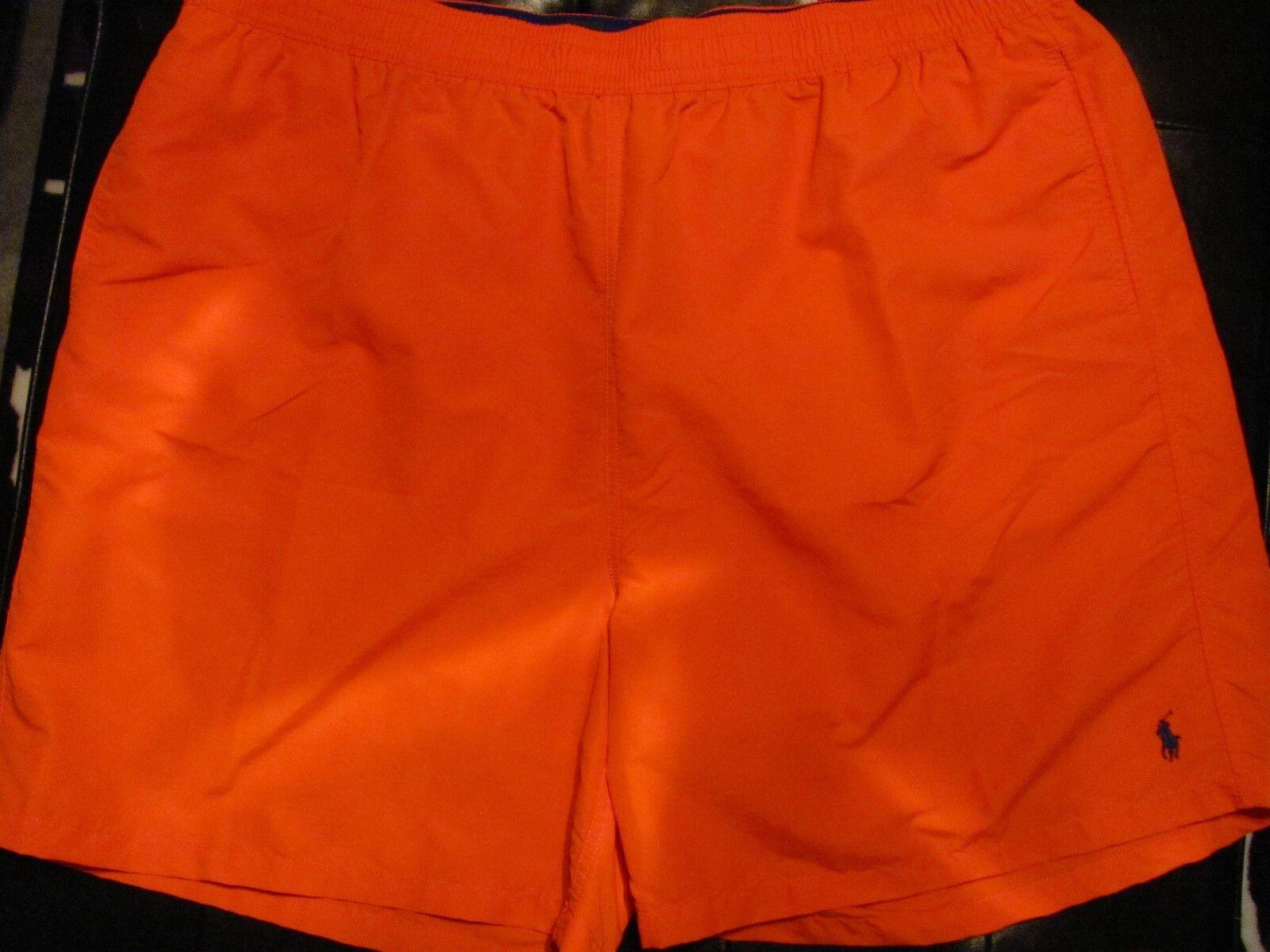 NEW 4XT 4XL TALL 4XT Ralph Lauren POLO Swimsuit orange w NAVY blueE PONY