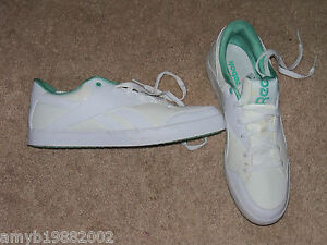 Reebok White   Green Shoes Size 10 Women s NEW LAST ONE HTF  94f5d6573