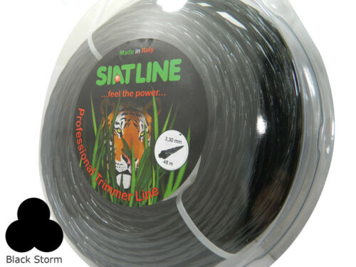 Professional TWISTED SILENT Strimmer line,3,3 mm,BLACK STORM,MADE IN ITALY