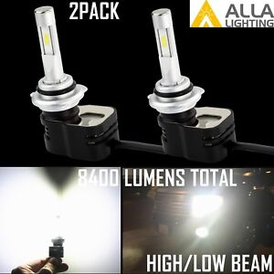 Details about Alla Lighting 2x 9012 HIR2 8400lm 6500K LED Headlight Bulbs  High/Low Beam, White