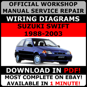 official workshop service repair manual suzuki swift 1988 2003 rh ebay co uk 1991 Suzuki Swift Interior 2000 Suzuki Swift Engine