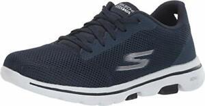 Skechers Women's Go Walk 5-Lucky Sneaker, Navy/White, Size 7.5 rItk