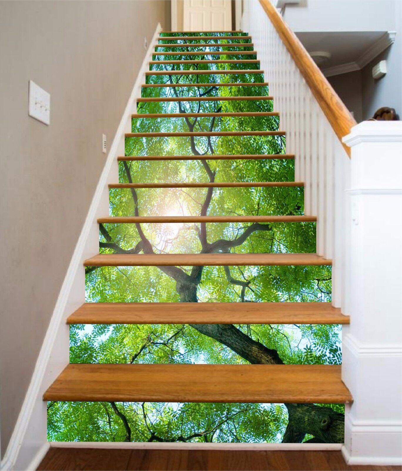 3D Pretty Tree 816 Stair Risers Decoration Photo Mural Vinyl Decal Wallpaper AU