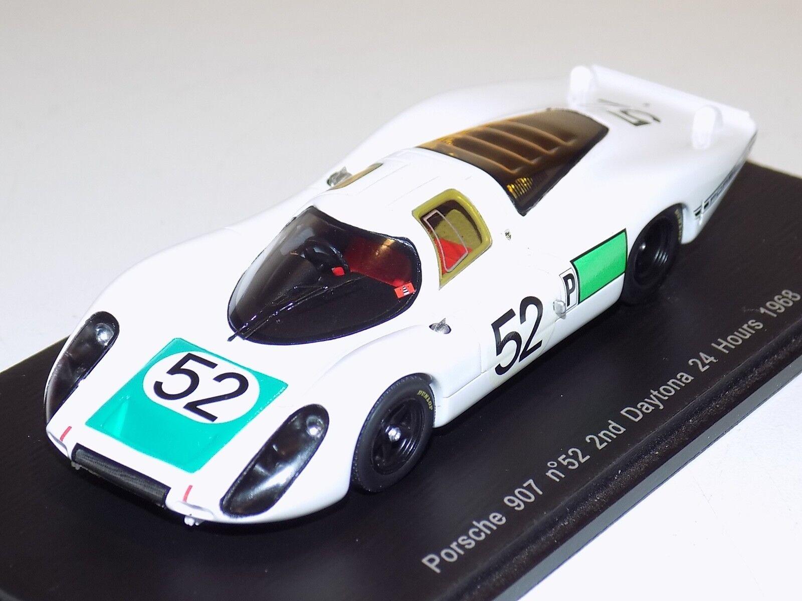 descuento de bajo precio 1 43 Spark Porsche Porsche Porsche 907 coche  52 2nd lugar en 24 horas de Daytona 1968 S2985  tiempo libre