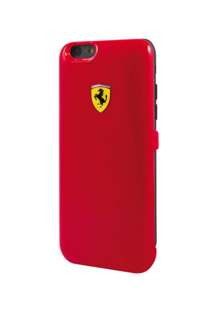new product 3591d 420fd Ferrari Shield Power Battery Case for Apple iPhone 6/6s Red