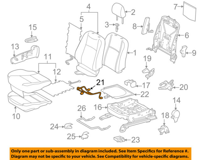 toyota oem 12-17 prius c front seat-wire right 8219152040