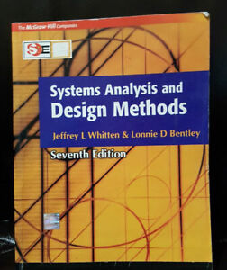 Systems Analysis And Design Methods 7th Edition By Whitten Bentley Free Ship Ebay