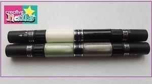 Creativ-Nails-Art-Pen-Stift-Nagellack-4-Farben-weiss-schwarz-silber-gruen