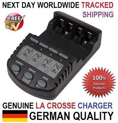 Original Genuine La Crosse (Technoline) BC 700 Charger Tester, AA AAA, EU Plug