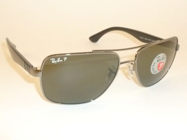 a5923d59ba New RAY BAN Sunglasses Gunmetal Frame RB 3483 004 58 Polarized Green Lenses