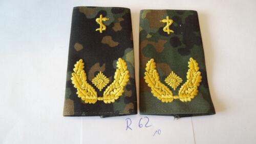 Bundeswehr Rangschlaufen Heer weiß auf Tarn Generalzahnarzt 1paar r62