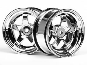 HPI-RACING-3591-WORK-MEISTER-S1-WHEEL-26mm-CHROME-3mm-OFFSET-NEW-GENUINE-PART