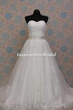 1576 White Ivory wedding dress A-line sweetheart lace princess any plus size UK