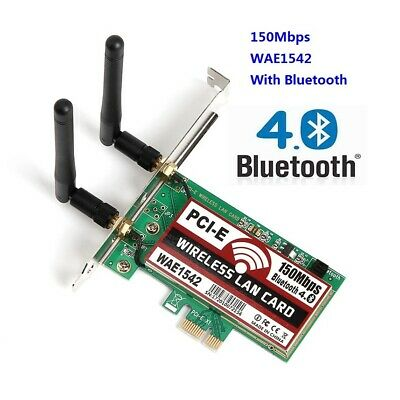 New 802.11 a//b//g//n NIC PCI-E X1 network card w// bluetooth 4.0