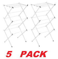 Polder Compact Accordion Dryer Rack Portable Clothing Laundry Stand 16ft  5-PACK