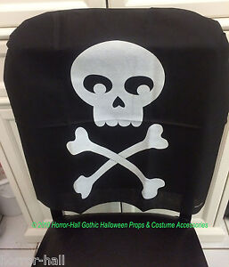 Prime Details About Gothic Pirate Birthday Skull Crossbones Chair Cover Haunted House Decoration Dailytribune Chair Design For Home Dailytribuneorg