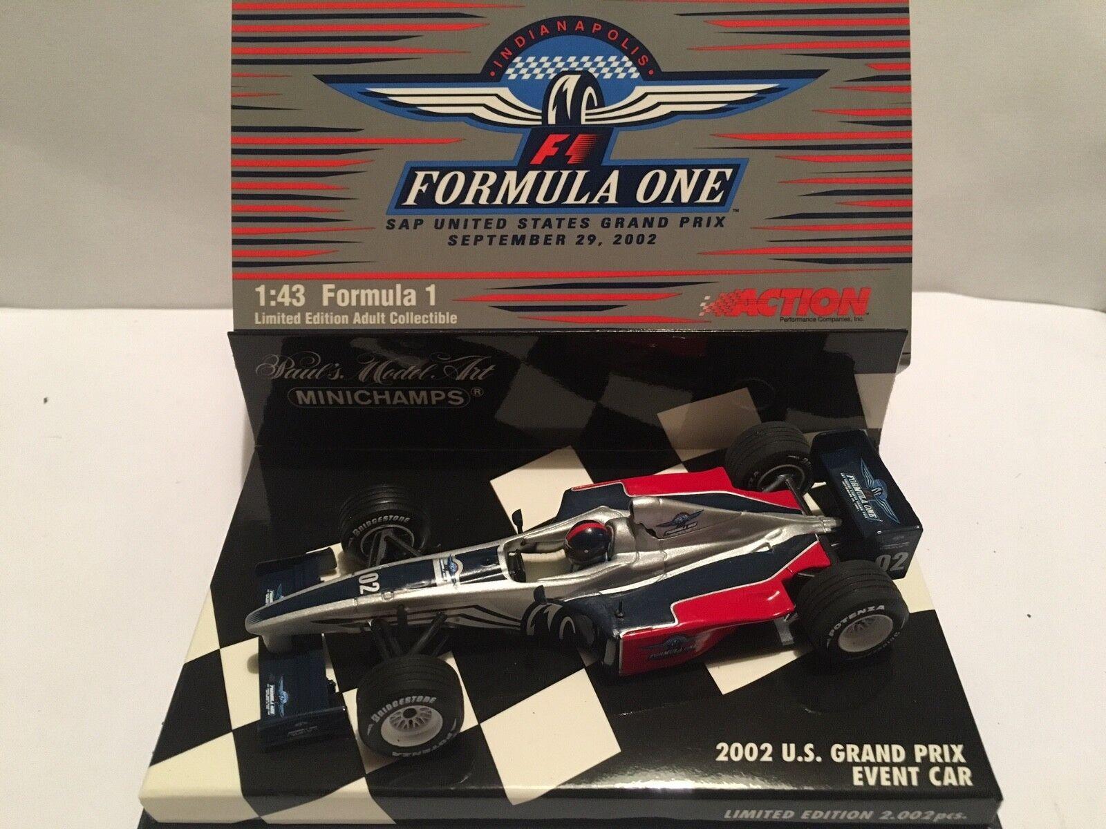 1 43 Minichamps AC4 020301 - 2002 U.S. Grand Prix Event Car