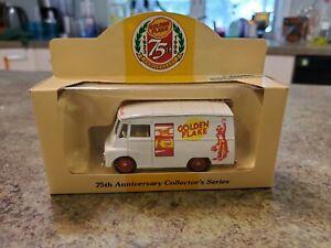 Vintage GOLDEN FLAKE 75TH Anniversary 1998 Diecast Lledo England Van NRFB NEW