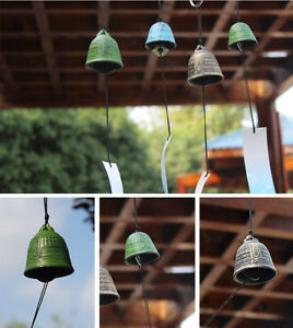 Temple Bell Japanese Wind Chime Hang Sound Clapper Home Garden Decor MultiColors