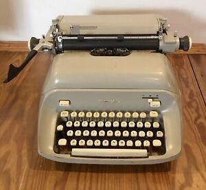 VTG Royal Typewriter Empress Manual 1963 Tan/Gray Color  for Repair or Parts