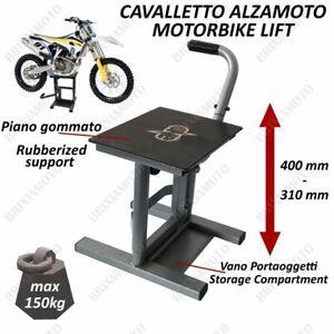 Cavalletto Alza Moto Centrale Cross Enduro Offroad Motard Universale Nero