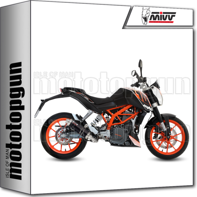 MIVV FULL SYSTEM EXHAUST HOM GP STEEL BLACK KTM 390 DUKE 2013 13 2014 14 2015 15