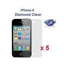 5 X iPhone 5 5G Bling Diamond Sparkling Glitter Shimmer Screen Protector