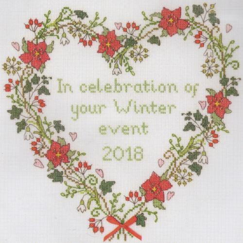Bothy Threads Winter Celebration 26x26cm Personalise 14ct Cross Stitch Kit