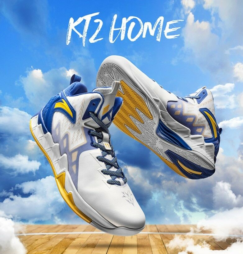 Anta KT2  golden states warriors basketball shoes for Klay Thompson
