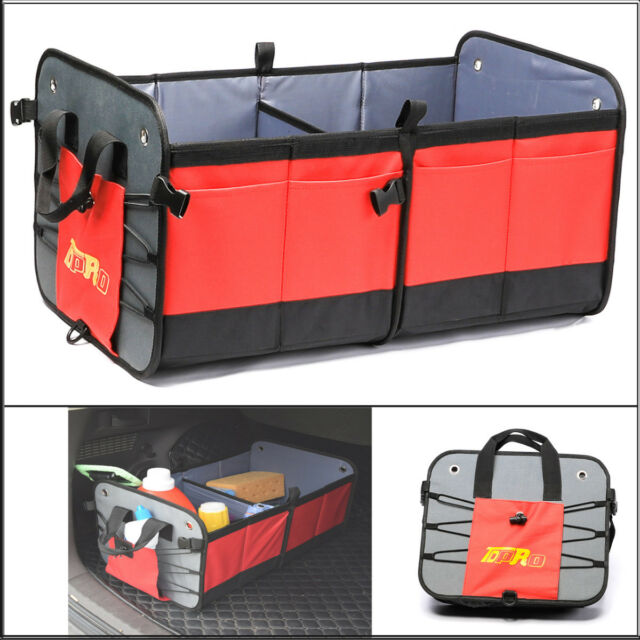 Suv Cargo Organizer >> Car Trunk Suv Cargo Organizer Foldable Collapsible Multipurpose Storage Box Bag