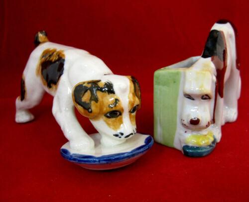 Dog Puppies Figurines Vintage Lot of 2 Mid-Century Japan